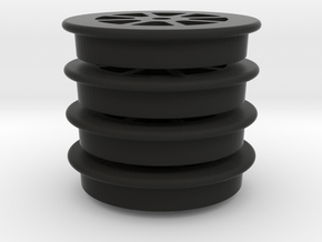 "2'6"" Bogie Wheels in Black Natural Versatile Plastic"