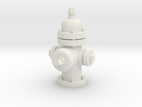 City Fire Hydrant 28mm -- Pulp Alley  in White Natural Versatile Plastic