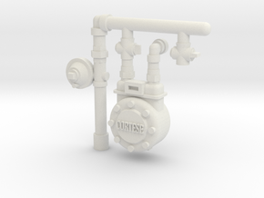 City Gas Meter 28mm -- Pulp Alley in White Natural Versatile Plastic