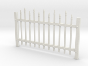 Large Spiked Fence 28mm -- Pulp Alley in White Natural Versatile Plastic