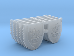 Mixed Chainshield (Hydra Chain design) in Smooth Fine Detail Plastic: Large