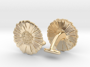Daisy Cufflinks in 14k Gold Plated Brass