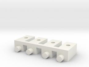 losi xx, xxt, xx cr and xxt cr servo mounting post in White Natural Versatile Plastic