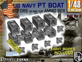 1/48 Bofors Ammo Box Set101 in Smooth Fine Detail Plastic