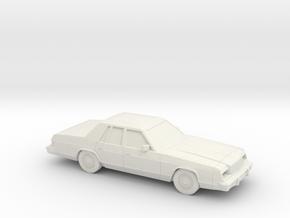 1/24 1979-81 Dodge St Regis in White Natural Versatile Plastic