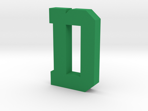 Decorative Letter D in Green Processed Versatile Plastic