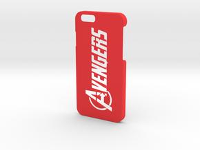 Avengers Logo Phone Case- iPhone 6/6s in Red Processed Versatile Plastic