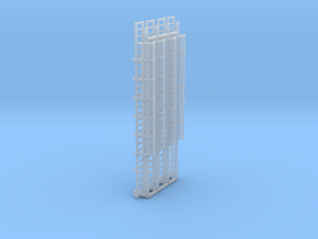N Scale Cage Ladder 56mm (Platform) in Frosted Ultra Detail