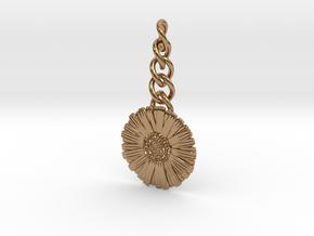 Daisy Keychain Charm in Polished Brass (Interlocking Parts)