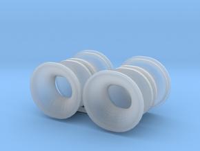 4 fairleads big_4 Klüsen groß in Smooth Fine Detail Plastic: 1:50