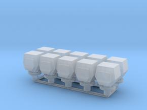 10 ventilation heads_typ4 - 10 Lüfterköpfe in Smooth Fine Detail Plastic: 1:50