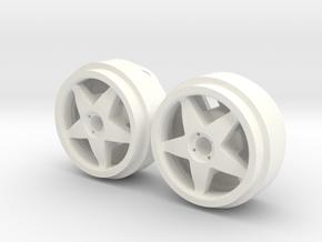 Llantas compomotive 19x10 (2un) in White Processed Versatile Plastic