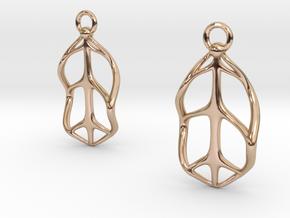 NFE Earrings in 14k Rose Gold Plated Brass