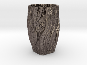 ABPW Vase 106 in Polished Bronzed Silver Steel