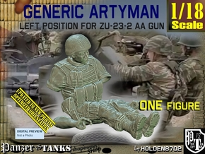 1/18 Left Artyman for ZU-23-2 AA Gun in White Natural Versatile Plastic