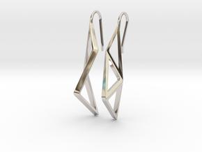 sWINGS Structura Earrings in Rhodium Plated Brass
