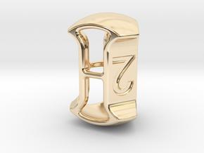 "D3, 3/4"" (19mm), Open, Balanced in 14K Yellow Gold"