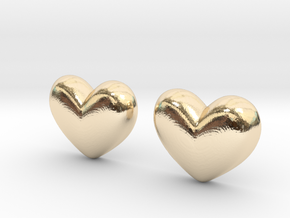 Batman Kisses Heart Earrings (front pieces only) in 14k Gold Plated Brass: Extra Small