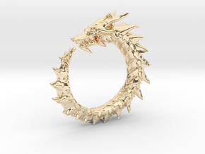 Dragon Amulet Complex in 14K Yellow Gold