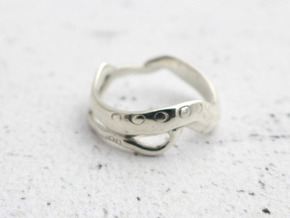 C. elegans Ring in Polished Silver: 8 / 56.75