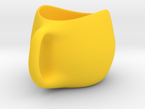 Cup in Yellow Processed Versatile Plastic