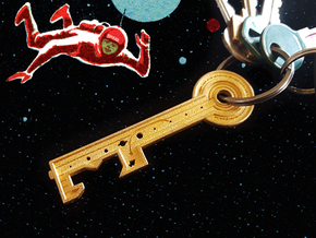 Key To The Stars  in Polished Gold Steel