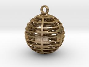 Alien sphere pendant in Polished Gold Steel