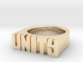 17.9mm Replica Rick James 'Unity' Ring in 14k Gold Plated Brass