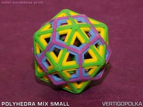 Polyhedra Mix Small in Full Color Sandstone