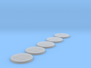 Cut Stone Tiled Base x 5 in Smooth Fine Detail Plastic