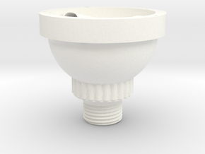 Vortex Water Imploder Shower Head - Part 1 of 2 in White Processed Versatile Plastic