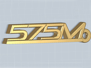 KEYCHAIN 575M in Polished Gold Steel
