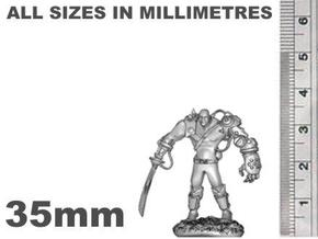 Mech Warrior1 35mm high in Smooth Fine Detail Plastic