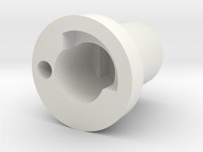 Handle mount/cap in White Natural Versatile Plastic