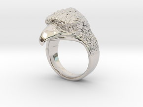 Ring Eagle in Rhodium Plated Brass