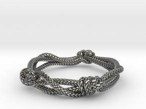 Rope ring in Natural Silver: 5 / 49