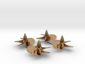 1/200 Iowa-class screw set - metal in Polished Brass