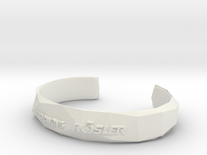 Bracelet Basic small in White Premium Versatile Plastic