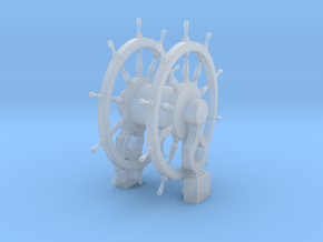 1/72 Wheel and Pedestal for Frigates, Sloops, etc. in Smoothest Fine Detail Plastic