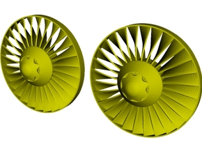 Ø26mm jet engine turbine fan B x 2 in Smoothest Fine Detail Plastic