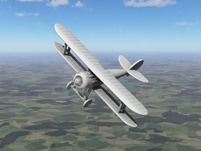 Nieuport 28 in White Natural Versatile Plastic: 1:144