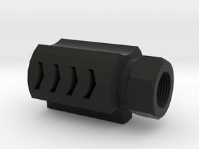 Executer Airsoft Flash Hider (14mm-) in Black Premium Versatile Plastic