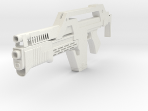 Colonial Marines M41A Pulse Rifle in White Natural Versatile Plastic: 28mm