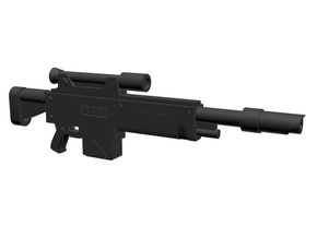 Laser sniper rifle 28mm x10 in Smoothest Fine Detail Plastic