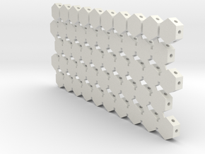 MOF Roof Hex Layout1 (50) 72:1 Scale in White Natural Versatile Plastic