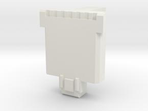 PotP Fist-Plate - Customizable in White Natural Versatile Plastic