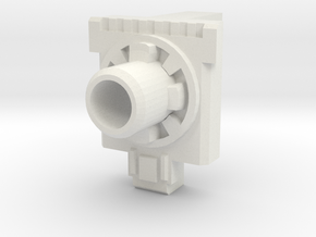 5mm Port PotP Fist-Plate in White Natural Versatile Plastic
