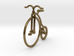 Vintage Bicycle Jewel in Polished Bronze