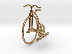 Vintage Bicycle Cufflink in Polished Brass