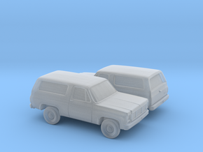 1/160 2X 1973-79 GMC Jimmy in Smooth Fine Detail Plastic